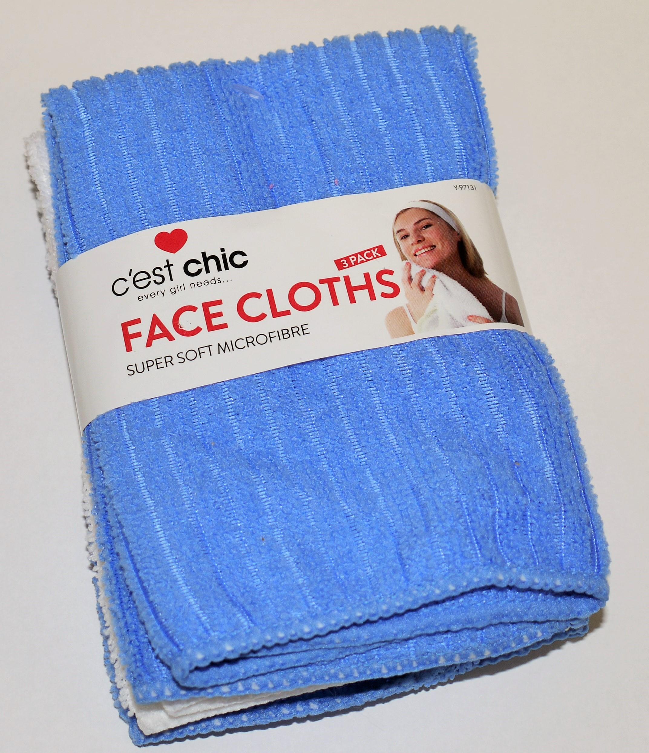 Wash Cloths As Burp Cloths: NEW SUPER SOFT MICROFIBRE FACE CLOTHS FACE TOWELS WASH